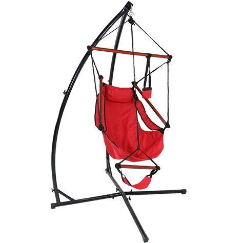 hammock swing and stand sunnydaze durable x stand and hanging hammock chair set or