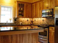 rustic hickory cabinets black laminate countertops ge 1000 images about kitchen ideas on pinterest hickory