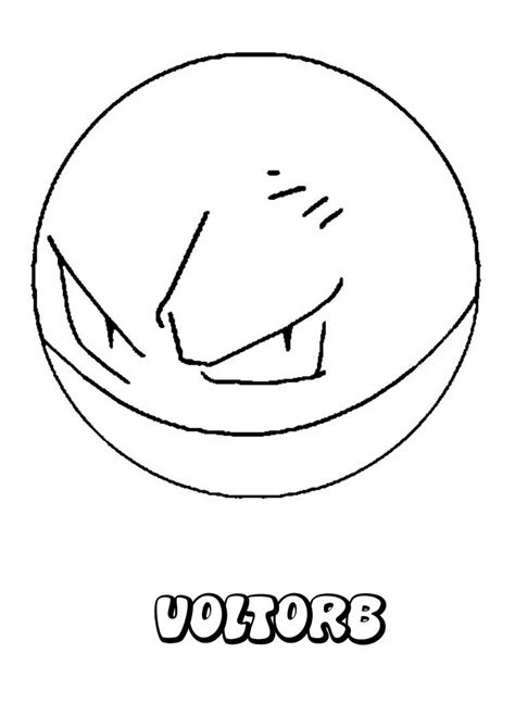 pokemon coloring pages voltorb voltorb coloring pages hellokids com
