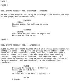 Script Writing Template by Writing Comics Scripting Programs