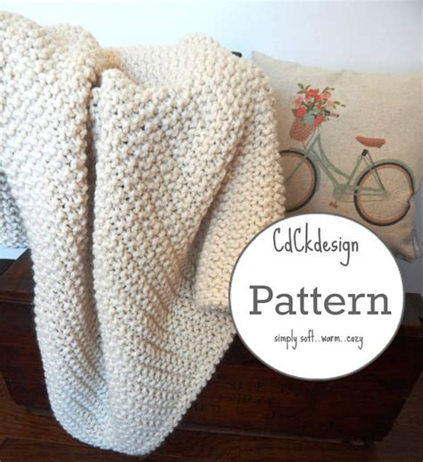 chunky yarn knit blanket pattern knitting pattern chunky knit wool blanket throw soft and