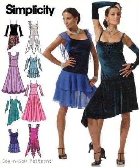 pattern latin dress simplicity 4744 sewing pattern 4 10 ballroom dance dancing