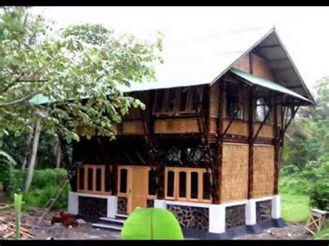 desain rumah bambu minimalis modern youtube