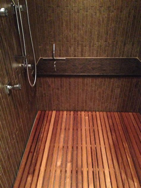 Teak Wood Shower Floor by Minimalist Bathroom With Shower Mat Teak Bath Bench Teak