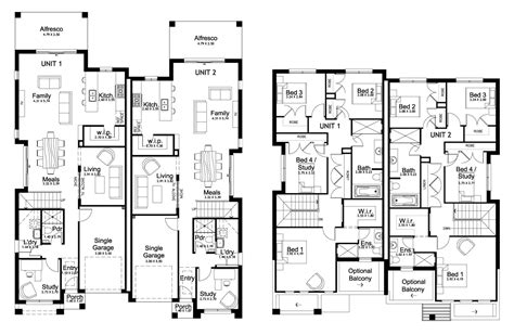duplex floor plans australia new home builders forest glen 50 5 duplex storey home