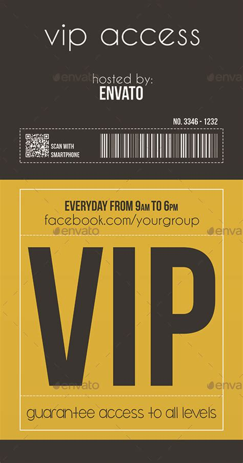 Multipurpose Vip Pass By Tzochko Graphicriver Vip Badge Template