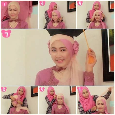 tutorial jilbab wisuda modern 79 best images about party hijab on pinterest tutorial
