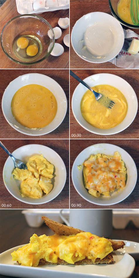 microwave scrambled eggs recipe mrbreakfast com