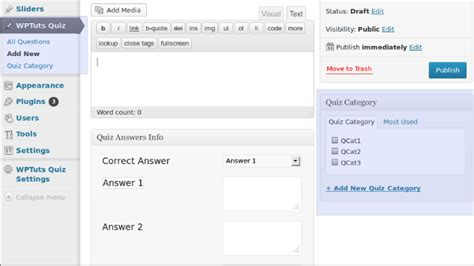 wordpress quiz tutorial integrating multiple choice quizzes in wordpress