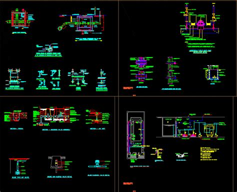 potable water general details dwg detail  autocad