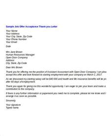 offer thank you letter template 7 free word pdf