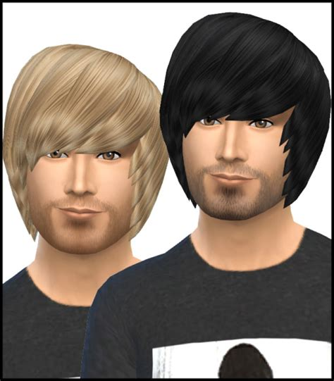 emo boy sims 4 sims 4 hairs simista david sims emo hairstyle for male