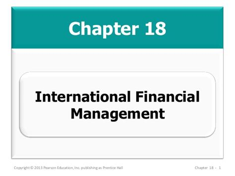 International Financial Management Mba Notes by Mba 713 Chapter 18