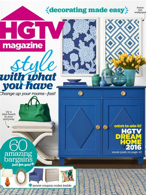 Hgtv Magazine Cover Giveaway - hgtv magazine january february 2016 hgtv