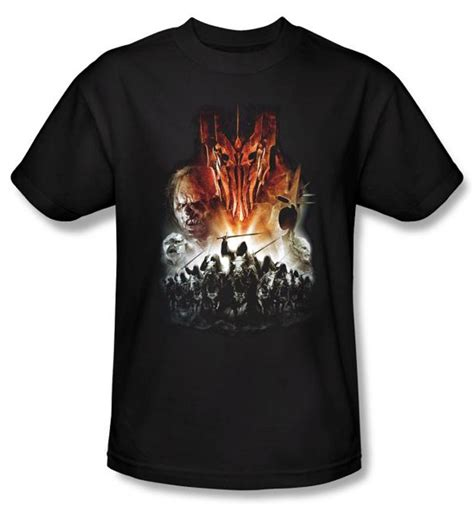 Hoodie Lord Noval Clothing the lord of the rings t shirt evil rising black