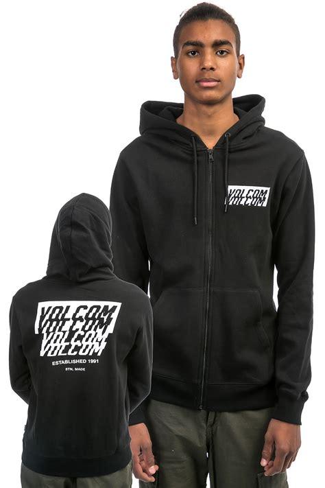 Hoodie Zipper Volcom And Black Premium Ori volcom supply zip hoodie black buy at skatedeluxe
