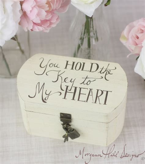 themes of lock and key ring bearer pillow box rustic wedding decor lock and key