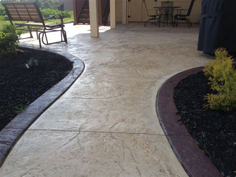Patio Borders by Patio With 6 Quot Border Coconut And