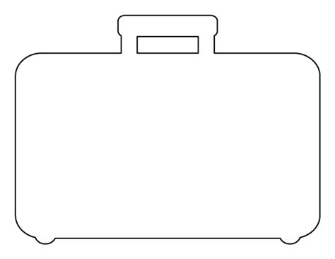 suitcase box template suitcase pattern use the printable outline for crafts