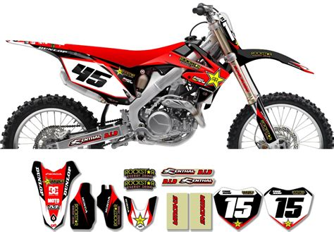 Decal Crf Kode 011 015 honda rockstar graphic kit factory black 11