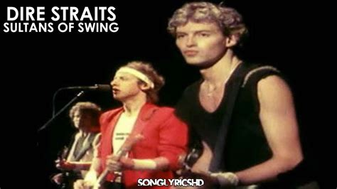 Dire Straits Sultans Of Swing Lyrics By Songlyricshd