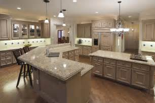Double Kitchen Island Designs Chef S Kitchen Double Ogee Edge Granite Countertops