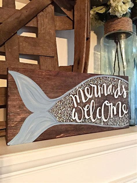 Mermaid Home Decor by Best 20 Mermaid Sign Ideas On House Diy