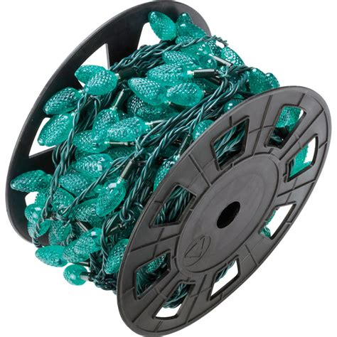 green led c6 christmas lights 200 light reel