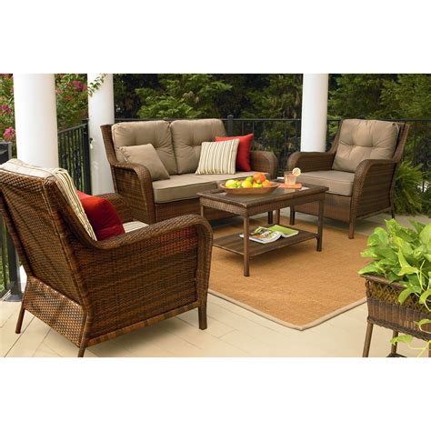Ty Pennington Style Mayfield 4 Pc Deep Seating Set Sears Patio Furniture Sears