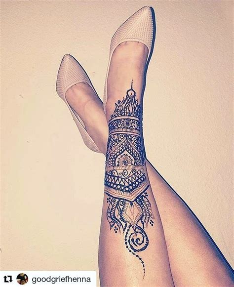 thigh henna tattoo 25 best ideas about henna leg on foot