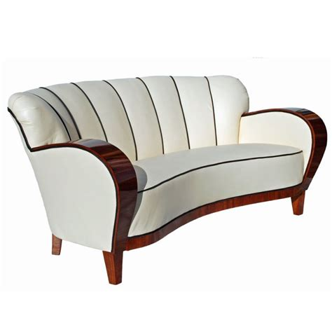 art deco style sofas an art deco curved walnut sofa circa 1930s at 1stdibs