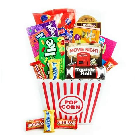 Redbox movie night gift basket could do this for a date night at