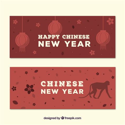 free vector new year banner new year banners pack vector free