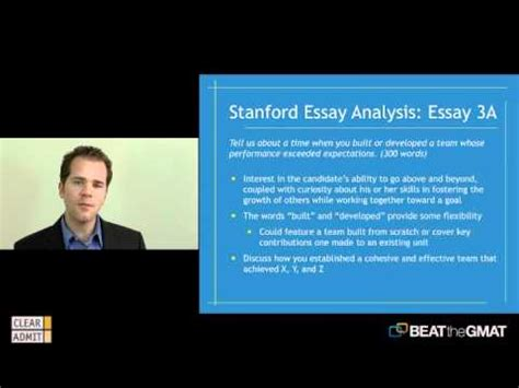 Stanford Gsb Mba Essays by Stanford Graduate School Of Business Essay Breakdown