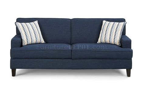 blue loveseats finley sofa in blue fabric 504321 by coaster w options