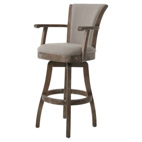Solid Oak Back Swivel Bar Stool 24 Inches High by Wooden Swivel Bar Stools Home Decor