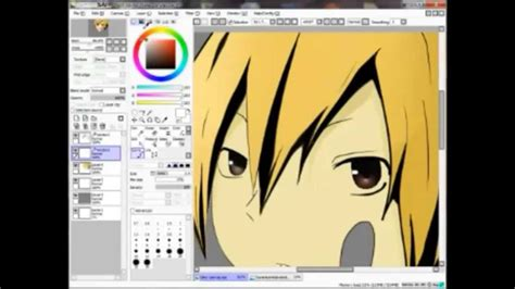 paint tool sai speed drawing speed drawing kida from durarara in paint tool sai mouse