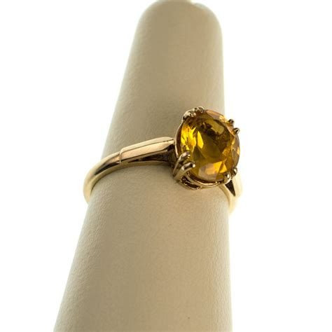 783ct Golden Citrine If Quality Clean Fireluster antiques atlas fabulous vintage citrine ring 9ct gold
