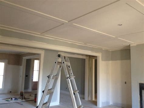 Flat Coffered Ceiling flat coffered ceiling in great room ideas for the home