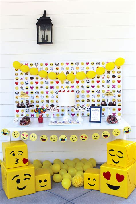 birthday themed emojis kara s party ideas stellar emoji birthday party kara s