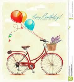 tarjeta de felicitaci 243 n cumplea 241 os con la bicicleta y