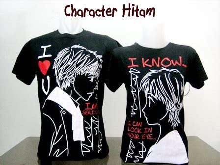 Baju Kaos Pasangan 6 jual baju kaos pasangan character hitam