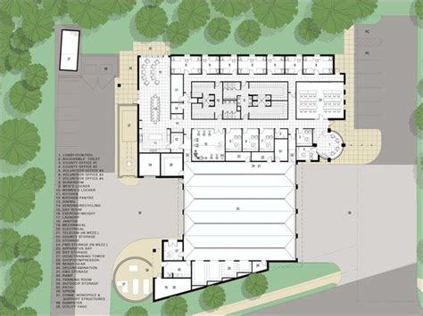 fire station floor plans fire station architectural site plan google search