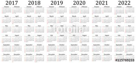 Buy Calendar 2018 India Quot Six Year Vector Calendar 2017 2018 2019 2020 2021