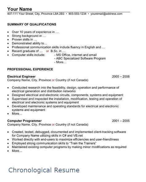 proper resume format canada how to write a canadian resume portal in canada