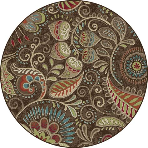 Brown Paisley Rug by Brown Transitional Paisley Floral Area Rug Multi Color