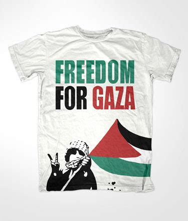 Tshirt Kaos Freedom For Gaza islamic t shirts