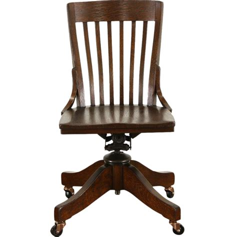 oak swivel desk chair oak antique 1910 adjustable swivel office or library desk