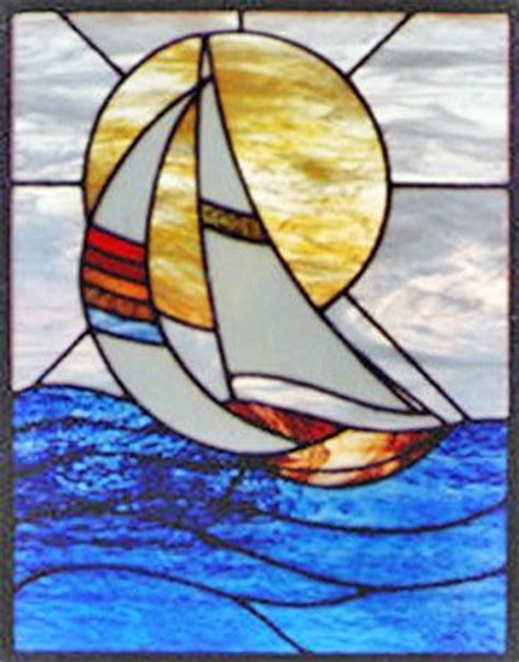 Sailboat Windows Designs 628 Best Images About Stained Glass Seaside Water On Herons Boats And Starfish