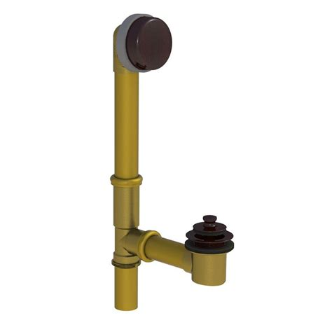 lift and turn bathtub stopper watco 598 series 24 in tubular brass bath waste with lift